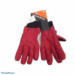 Hawke & Co lightweight nylon gloves chili red